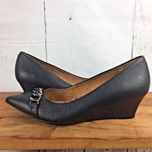 Sofft wedge shoes black